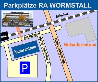 Anfahrt und Parkplätze bei Rechtsanwalt Andreas Wormstall, Oelde, Fachanwalt für Arbeitsrecht